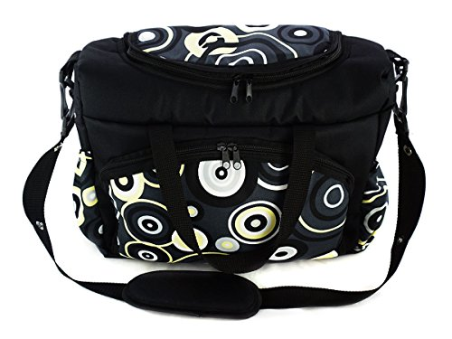 Sac pour bébé un sac pour la poussette un sac de voyage un sac pour les accessoires une mallette de transport cercle jaune Yellow Circle[059]