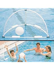 Aqua Water Swimming Pool Fun Playing Deluxe Heavy Duty Floatable Water Polo Goal