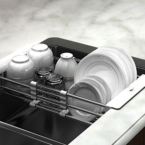 Make-up-Rahmen MEILING Kitchen Drain Rack Drainage Korb Teleskop Schüssel Stäbchen Drainage Rack 304 Edelstahl Spüle Rack trocken Schüssel Rack Platz, wo Dinge im Wohnzimmer platziert Werden
