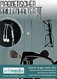 infimedix Magnetischer Brillenhalter, Silber