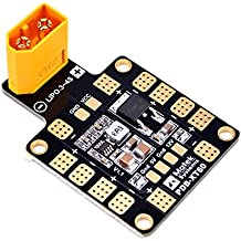 Matek PDB BEC , Power Distribution Board BEC , 6 ESC Output ( Input 9-18V , PDB 4*25A or 6*15A , BEC 5V&12V , with XT60 , 1.6mm PCB ) for X or H Design FPV Racing RC Drone Quadcopter by LITEBEE