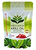Hellenia 100% Antarctic Krill Oil 500mg - 180 Capsules - Pure High Quality Product immagine