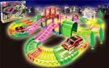 Tracks Magiques Circuit de Voiture Flexible, Noovo Track Car Magic avec Design Modulable, une Piste de Course de 135 Pièces au Néon, Voiture de Circuit Cool pour Enfants à Partir de 3 Ans