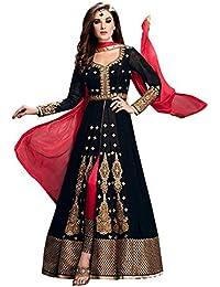 V.k.creation Black Suits For Women Indo-Western For Party Wedding Wear Floor Length Gown/ Anarkali Suit/ Salwar...