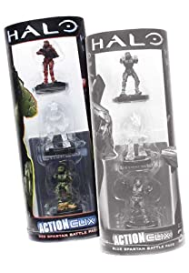 Halo Action Clix Classic - Espartano (3 Unidades), Color Rojo