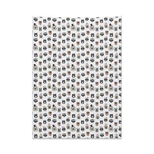 (ABAKUHAUS Kindergarten Wandteppich, Tiere im Kostüm aus Weiches Mikrofaser Stoff Kein Verblassen Klare Farben Waschbar, 110 x 150 cm, Mehrfarbig)