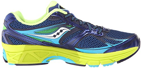 Saucony Women's Guide 8 Running Shoe,Blue/Navy/Yellow,12 M US Blu (Blu/giallo)