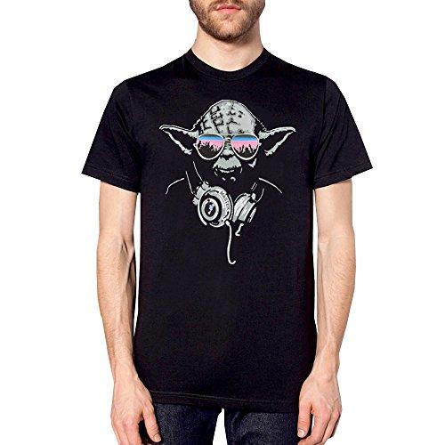 Star and Stripes Inspiré Darth Vader Yoda DJ évolution T Chemise - Blanc, X-Large