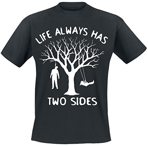 Life Always Has Two Sides T-Shirt nero 3XL