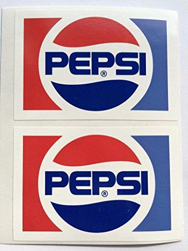 SBD Decals 2 Vintage-Pepsi Logo Gestanztes Abziehbilder -