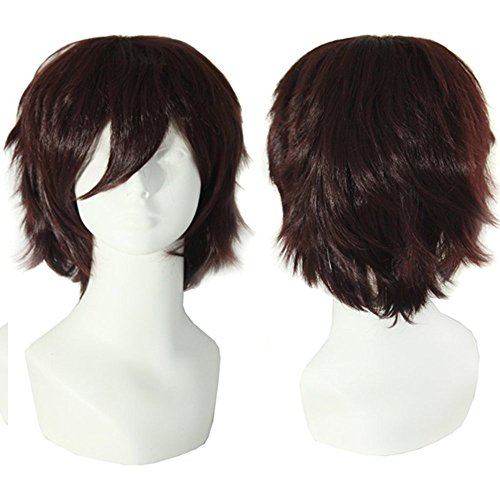 S-NOILITE® Unisex Anime Kurz Full Head Perücken Cosplay Kostüm Party Halloween Fancy (Kostüme Einfach Mens Machen Zu Dress Fancy)