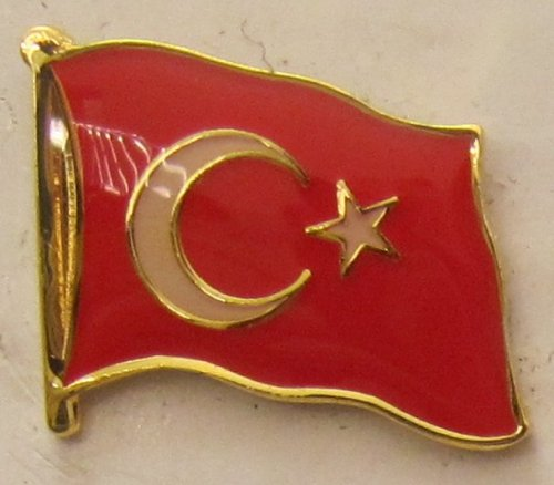 Pin Anstecker Flagge Fahne Türkei Nationalflagge Flaggenpin Badge Button Flaggen Clip Anstecknadel