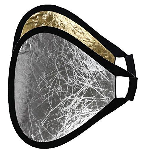 METTLE 2-in-1 Hand-Reflektor silber-gold, Ø 50 cm