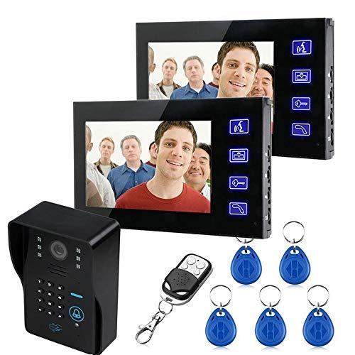 Maschine Ringer (WWAVE Wifi-Türklingel 7 Zoll Touch Farbe Passwort Zugangskarte Maschine visuelle Gegensprechanlage Türklingel Wireless Remote Control entsperren)