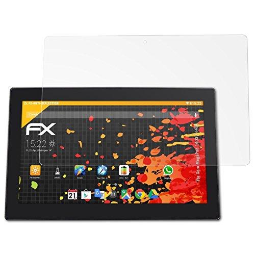 atFolix Panzerfolie kompatibel mit Xoro MegaPad 1403/1404 Schutzfolie, entspiegelnde & stoßdämpfende FX Folie (2X)