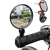 Neu 2PCS Mini Rotaty Rückspiegel ❤️sunnymi Universal Rearview Lenkerglas Spiegel ❤️ Für Fahrrad Radfahren (Schwarz)
