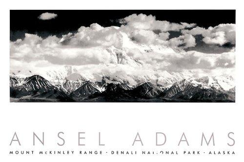 The Picture Peddler Inc. Denali National Park von Ansel Adams Schwarz & Weiß Landschaft Embossed Print Poster 91,4x 61 -