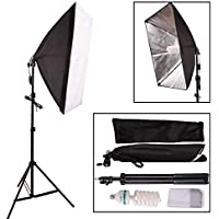 "YISITONG Photo Studio Softbox Continuous Lighting Kit 50x70cm/20""x28"" + Fully Adjustable Aluminum alloy Light Stand + 135W Photo Studio Light Bulb"