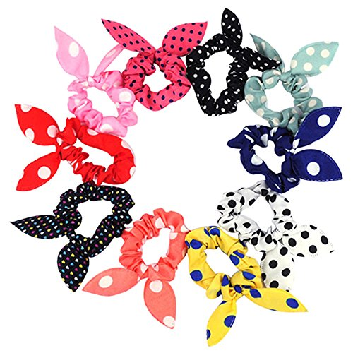sanwood-10pcs-rabbit-ear-hair-tie-bands-style-ponytail-holder