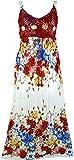 Guru-Shop Boho Sommerkleid, Krinkelkleid, Strandkleid Hippie Chic, Damen, Rot, Synthetisch, Size:38, Lange & Midi Kleider Alternative Bekleidung