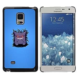 Be Good Phone Accessory // Hartschalen Handyhülle Schutzhülle Schutz Etui Hülle für Samsung Galaxy Mega 5.8 9150 9152 // Cute Monster White Teeth Cartoon Smile Art