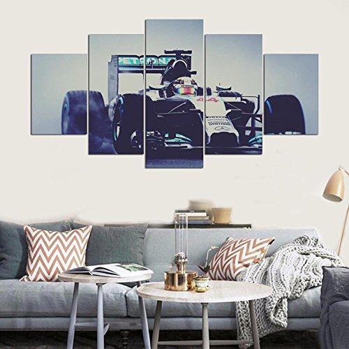 Einrichtung Home Wandkunst Frame Bilder HD Gedruckt Moderne 5 Panel Rennrad  Auto Malen Auf Wohnzimmer Leinwand Poster, 20 X 35 20 X 45 20 X 55 Cm,  Rahmen