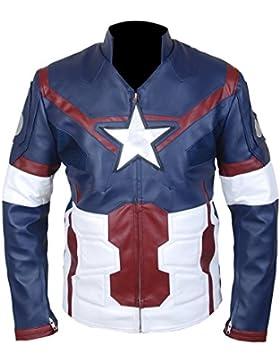 Leatherly Chaqueta de hombre Avengers