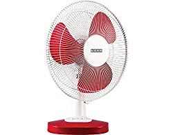 Usha Mistair ICY 3 Blade 400MM Table Fan (Red)