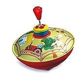 Bolz 52520 - Brummkreisel Bauernhof, Ø 13 cm, Schwungkreisel aus Blech, Musikkreisel erzeugt mehrstimmige Töne, Spielzeugkreisel für Kinder ab 1,5 Jahre, Blechkreisel aus Metall mit Farm Motiv
