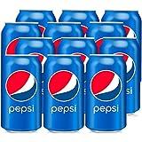 Pepsi - Bebida Refrescante Aromatizada de Cola, lata 33 cl - [Pack de 12]