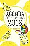 Agenda Settimanale 2018 giallo limone: Weekly Planner in italiano del 2018, da borsa, 12 mesi, 52 settimane