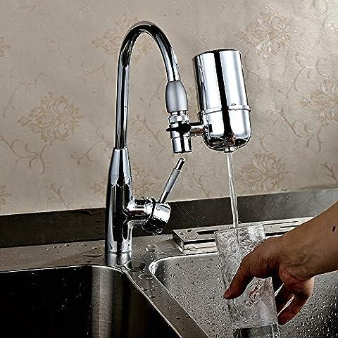 Lugii Cube purificateur d'eau du robinet de cuisine Maison filtre Purifiant l'eau de robinet Water-strainer