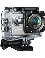 """TopElek Action Camera - Camara con Wi-Fi y aplicación Gratuita para Android, IOS, cámara 20MP y UHD Sport con pantalla LCD de 2"""", cámara de vídeo impermeable con menú multilingüe y mensaje vocal, Multi-Ángulo de FOV, BSI CMOS sensor y accesorios múltiples"""