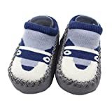 Baby Boys Girls Shoes, FeiliandaJJ Toddler Infant Cartoon Animal Non-slip Soft Sole Casual Socks Slipper Shoes Boots (3-4 Years, Grey(Puppy))