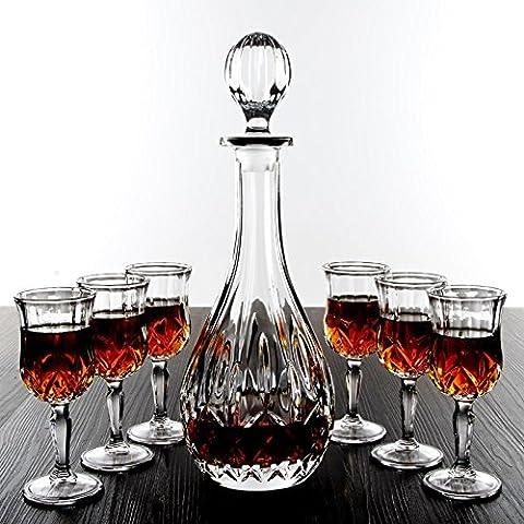 Senza piombo di cristallo del vino rosso di vetro Imposta Grande Vetro Decanter Wine Glass creativa calice di vino Set di vetro ( dimensioni : A )
