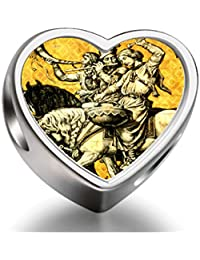Bracelet Charm Bead Dresden Der F¨¹rstenzug Heart Sterling Silver Charm Beads Biagi beads European Charms Bracelets
