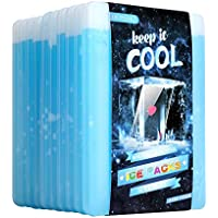 OICEPACK Paquete de Hielo (Juego de 10) Grandes Paquetes de Hielo para loncheras de Almuerzo refrigerador de Larga duración Bolsas de Almuerzo Bolsas de Hielo Delgadas Reutilizables Cool Packs para
