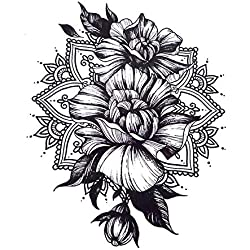 ROSEN MANDALA BLUMEN TATTOO ARM TATTOO RÜCKEN TATTOO FAKE TATTOO KM188