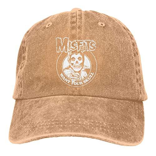 Misfits Gesicht (Basecap Snapback Outdoor Baseball Kappe Jeans Hat Misfits Classic Lightweight Breathable Soft Baseball Cap Sports Cap Adult Trucker Hat Mesh Cap)