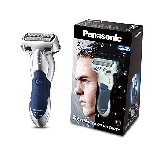 Panasonic Nass/Trocken-Rasierer ES-SL41-S503 mit 3 Scherelementen, ausklappbarer Langhaarschneider, praktische Ladestation