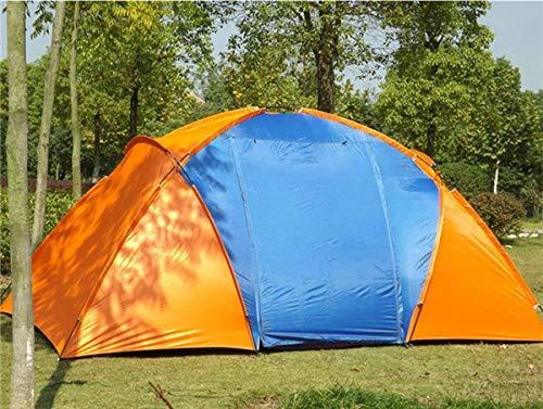 6-zimmer-haus (CHYYZP Zelt Doppelschicht wasserdichte Große Camping Zelt Zwei Schlafzimmer Zimmer Zelt Haus Für 5-8 Personen Familie Outdoor Party 420X220X175 cm 5,3 kg)