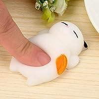 Toamen Stress Reliever Toys, Cute Mochi Squishy Cat Squeeze Healing Fun Kids Kawaii Toy Stress Reliever Decor Cellphone Key Pendant (D)