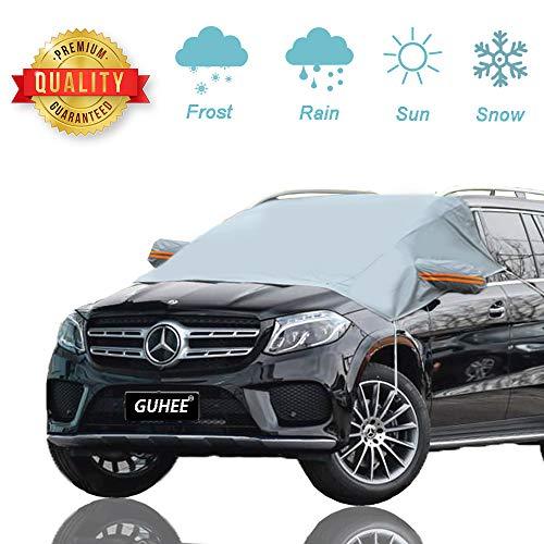 GUHEE Frontscheibe Abdeckung Faltbare Windschutzscheibe Schneeabdeckung Anti-Frost Auto Abdeckungen Anti-Schnee Wind Frost für Auto Fit für die meisten Fahrzeug mit Größe