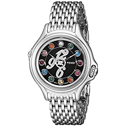Fendi Women's F105021000D1T05 Crazy Carats Analog Display Swiss Quartz Silver Watch