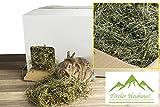 Tiroler Kaninchen Heu & Futter für Hasen und Meerschweinchen im praktischen Kaninchenheu Haus ALS Futter Box - 16kg