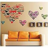 Chambre à coucher Salon Salle à manger amovibles vinilo decorativo vinyle autocollant mur