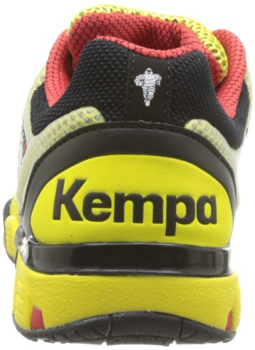 Kempa Hurricane, Scarpe da pallamano unisex adulto giallo (Yellow - Gelb (gelb/schwarz/rot gelb/schwarz/rot))