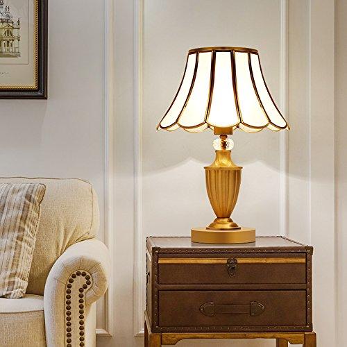MuidegeEstilo europeo cobre completo lámpara de escritorio Dormitorio Matrimonio cabecera lujosa habitación Volver a la antigua Boda Boda Boda caliente cobre plena americana lámpara de escritorio