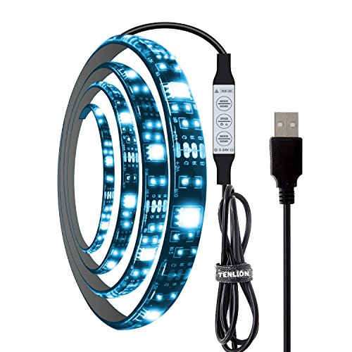 tenlion-led-strip-lights-rgb-5050-usb-connector-for-tv-pc-background-1m-with-remote-controller