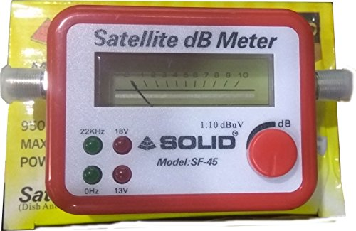 Solid SF-45 Satellite Signal Finder Db Meter for Full Hd Dish T.V Network Setting